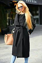 """Женское кашемировое пальто на запах """"Violetta"""" с поясом (2 цвета), фото 3"""