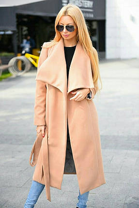 """Женское кашемировое пальто на запах """"Violetta"""" с поясом (2 цвета), фото 2"""