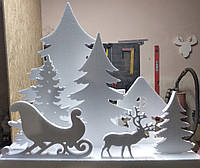"""Новогодний декор, объемные фигуры """"Зимний лес"""" для дома, фотозон, офисных помещений, витрин, инсталляций"""