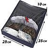 Набор органайзеров с крышками для нижнего белья 2 шт ORGANIZE (джинс), фото 3