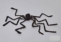 Паук черный 75 см, декорации на Хэллоуин Halloween