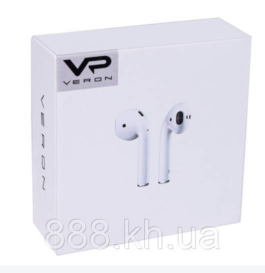 Беспроводные сенсорные наушники Apple AirPods копия класса ААА, модель veron VR-01 Bluetooth Headset