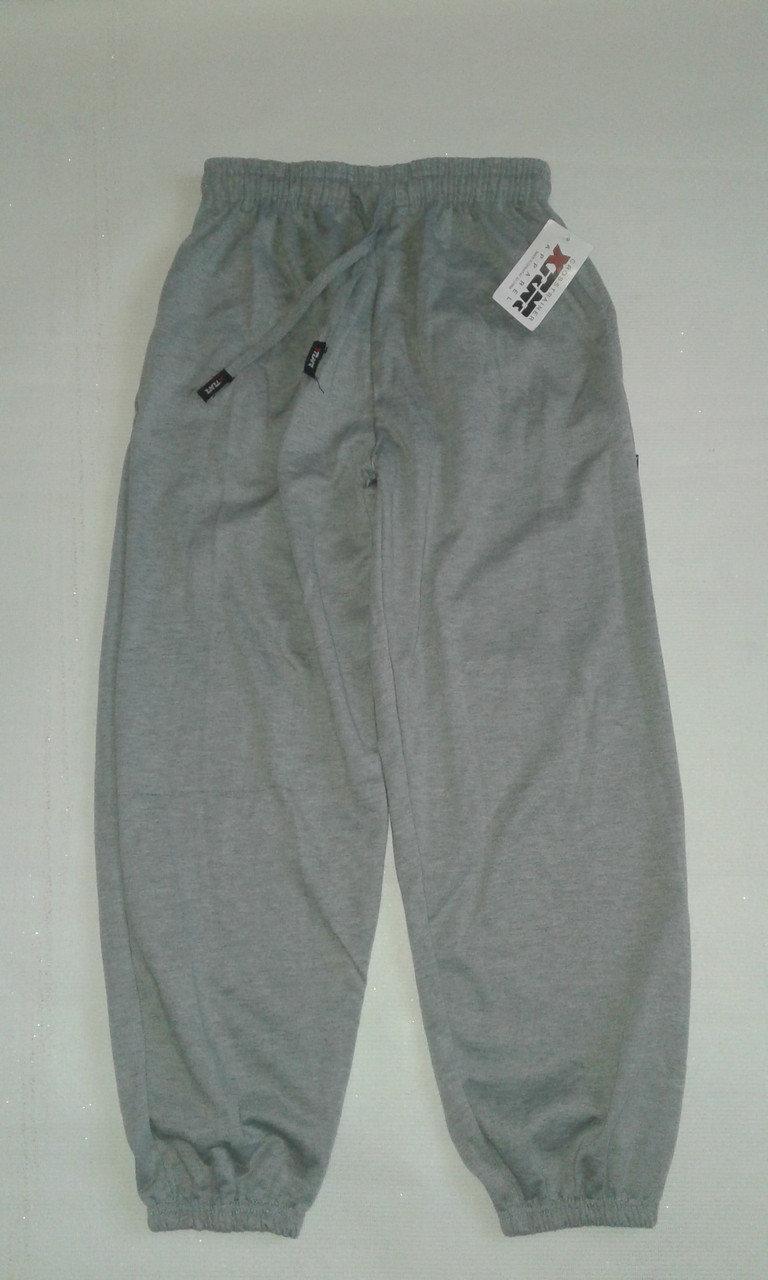 Спортивные штаны теплые унисекс р.50-52 светло-серые на манжете. От 4шт по 72грн