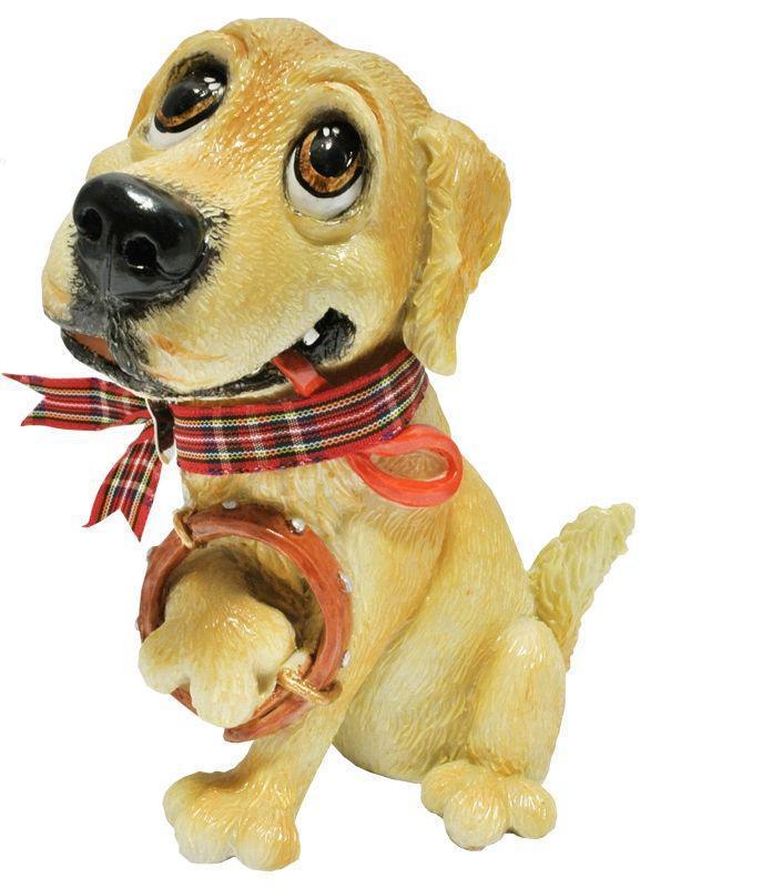 Фигурка-статуэтка собачка «Барни» коллекционная из керамики Англия, h-12 см 340-1079