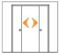 Одновременное раскрытие обоих створок дверей