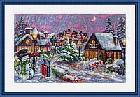 """Набор для вышивания крестом """"Рождественская ночь"""" Мережка"""
