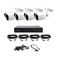Комплект уличного видеонаблюдения в HD на 4 камеры AHD CoVi Security AHD-4W KIT