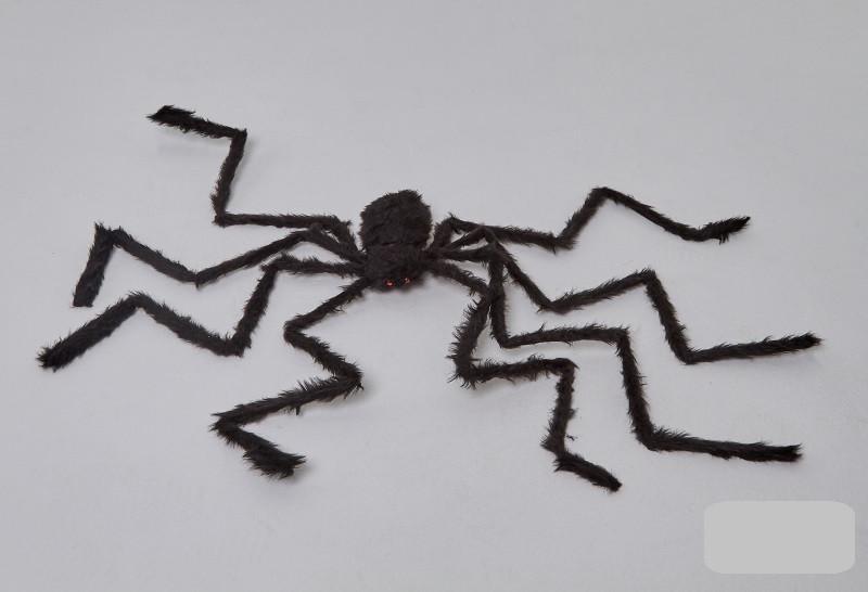 Паук черный 2 метра, декорации на Хэллоуин Halloween