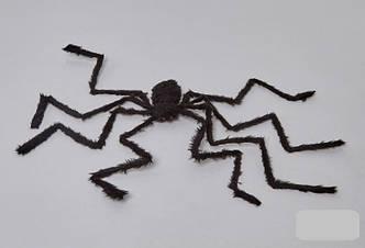 Паук черный 2 метра, декорации на Хэллоуин Halloween, фото 2