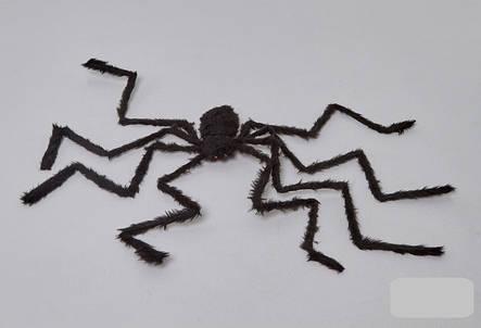 Паук черный 50 см, декор на Хэллоуин Halloween, фото 2