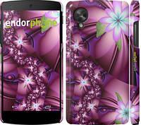 "Чехол на LG Nexus 5 Цветочная мозаика ""1961c-57"""