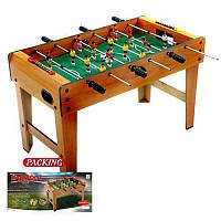 Футбол настільний ZC 1017В в дерев'яному корпусі, на ніжках, по 3 штанги у кожного гравця