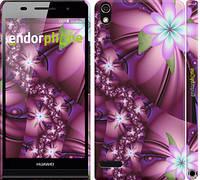 """Чехол на Huawei Ascend P6 Цветочная мозаика """"1961c-39"""""""
