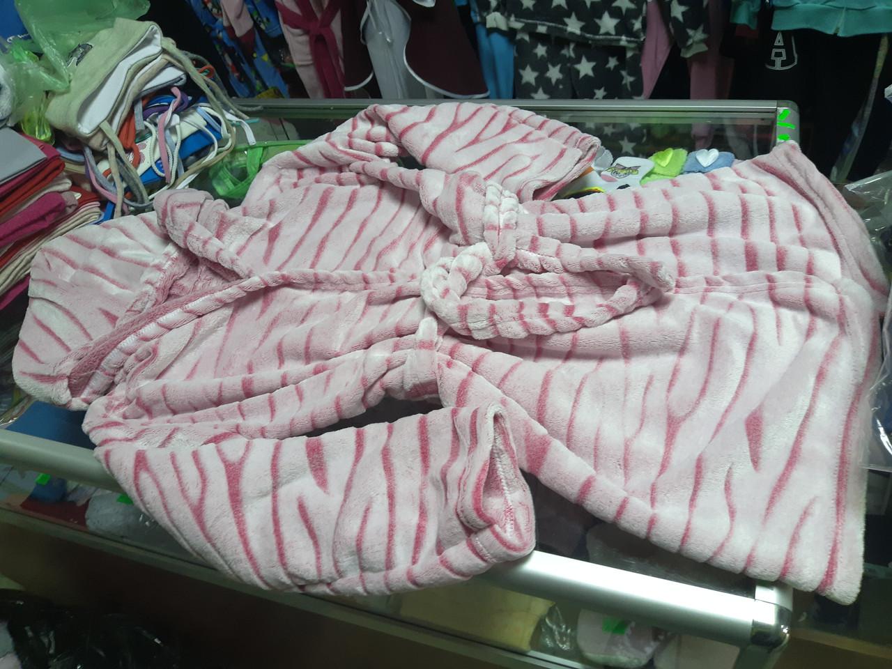 Детский Подростковый махровый халат для девочки р.122 - 152