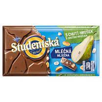 Шоколад молочный Studentska с грушей и арахисом 180 г Чехия