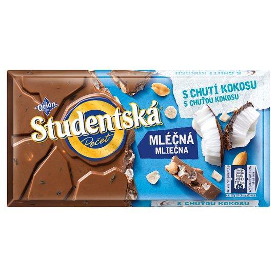 Шоколад Studentska pecet с кокосом и арахисом Чехия 180г