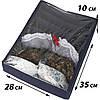 Набор органайзеров с крышкой для нижнего белья 3 шт ORGANIZE (джинс), фото 2