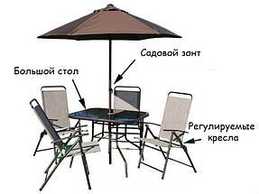 Садовая мебель Richard,зонт,4 кресла,стол, фото 3