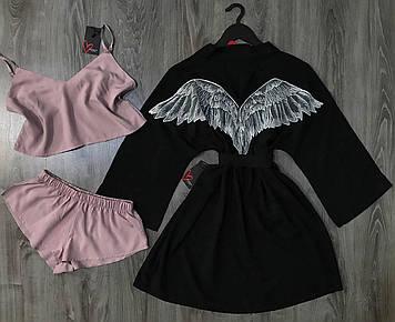 Оригинальный женский комплект для дома, халат-кимоно и пижама