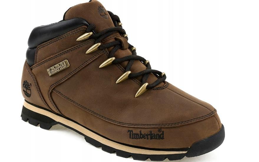 Стильні коричневі чоловічі черевики TIMBERLAND EURO SPRINT, натуральна шкіра. 40-46рр.