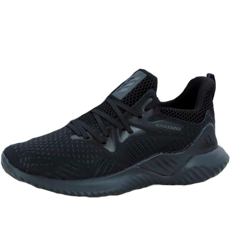 Кроссовки мужские Adidas Alphabounce (черные) Top replic