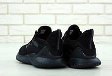 Кроссовки мужские Adidas Alphabounce (черные) Top replic, фото 2
