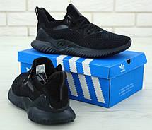 Кроссовки мужские Adidas Alphabounce (черные) Top replic, фото 3