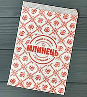 Упаковка бумажная для блинов с печатью 150Ф