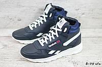Зимние кожаные кроссовки Reebok (Реплика) (Код: Б-75 с/к  ) ►Размеры [36,37,38,39,40,41], фото 1