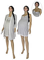Снова в наличии ТОП ПРОДАЖ для беременных и кормящих мам - комплекты серии Klipsa Soft серый меланж ТМ УКРТРИКОТАЖ!