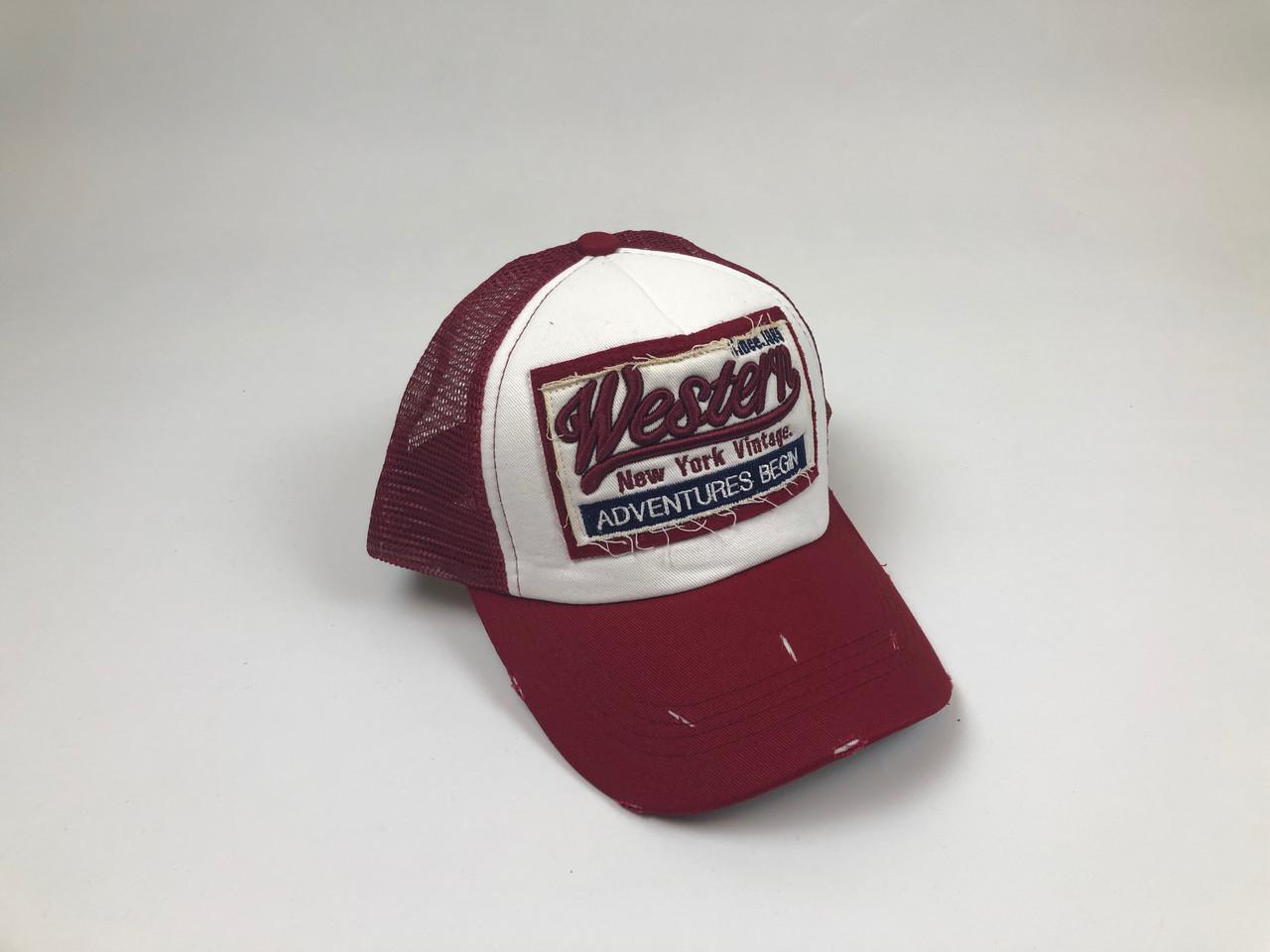 Тракер бейсболка Vestern - красный