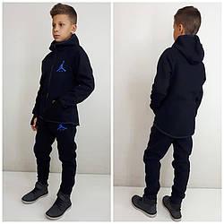 Теплый  спортивный костюм  Air  начес  с перчаткой от 122 см и до 170 см цвет темно синий