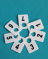Номерки в гардероб 40_60 мм белый, фото 1