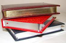 Ежедневник недатированный BRISK OFFICE SARIF А5(14,2х20,3) бордо с золотым торцом, фото 2