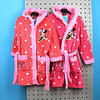 92551 Детский Халат для девочки травка Минни Маус тм Cactus Clone размер 3,4,5,6,8