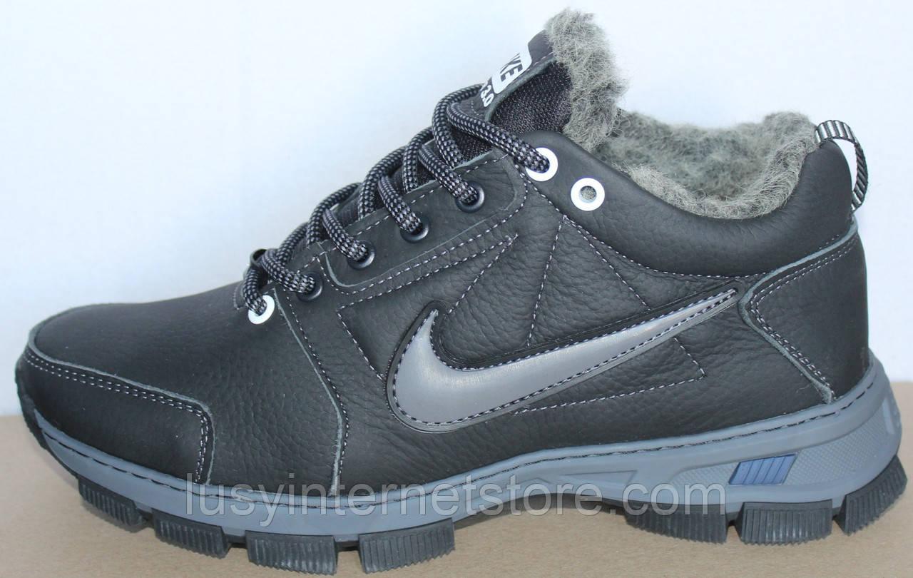 Ботинки зимние кожаные мужские от производителя модель БФБ55