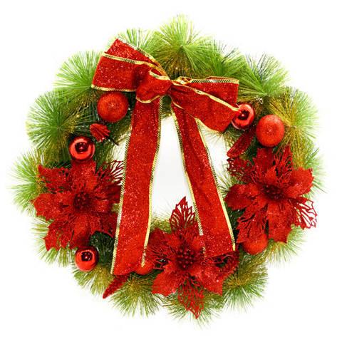 Новогодний Рождественский Венок 50см, фото 2