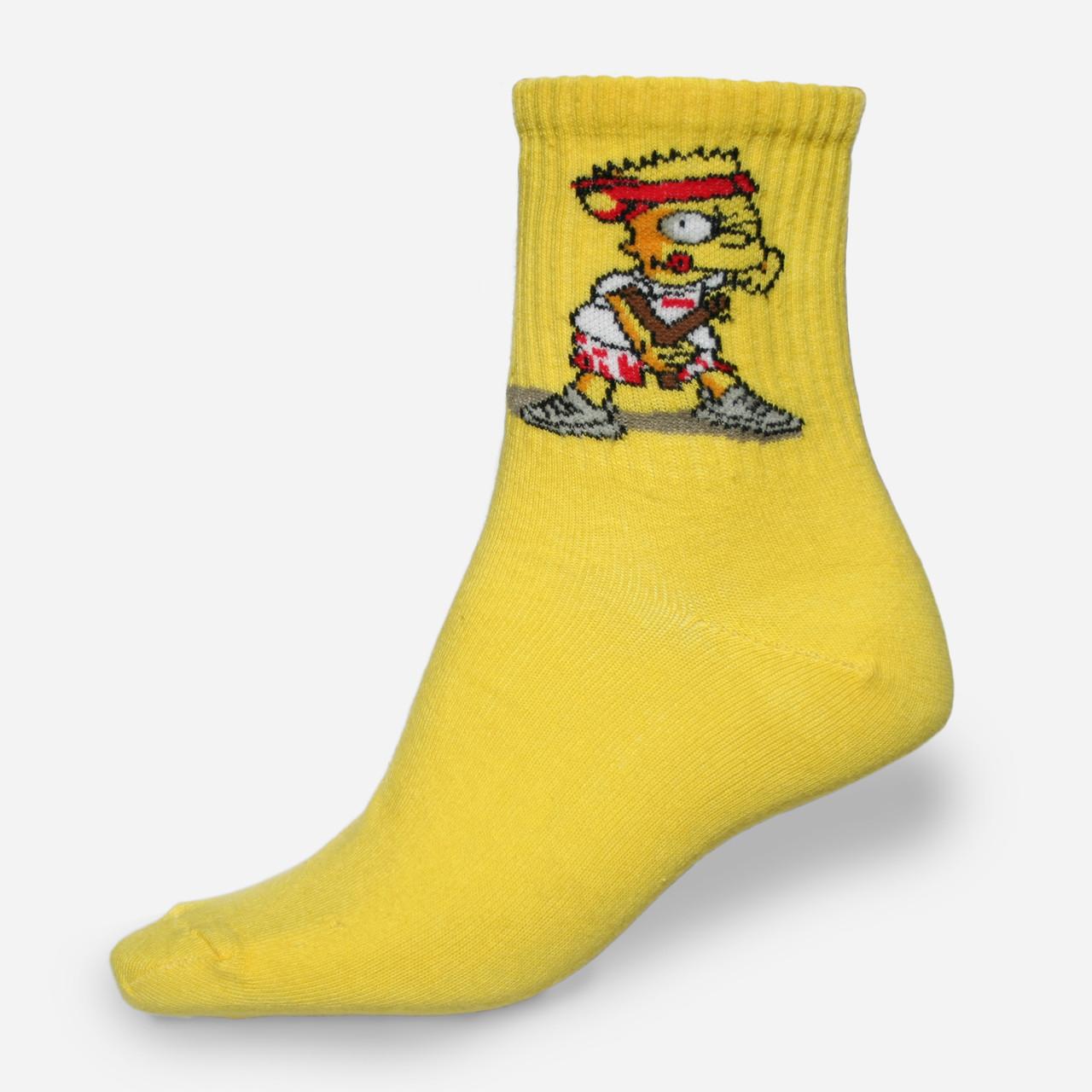 """Носки желтые с принтом """"Simpsons"""""""