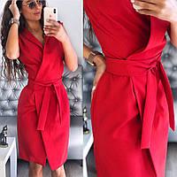 Красное летнее платье халат Elly (Код MF-438)