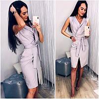 Серое летнее платье халат Elly (Код MF-438)
