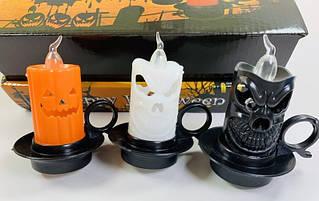 Свеча светящийся Тыква Хэллоуин (12 штук в коробке)