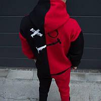 Спортивный костюм мужской X|O черно-красный