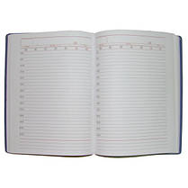 Ежедневник недатированный BRISK OFFICE SARIF А5(14,2х20,3) красно-коричневый с золотым торцом, фото 3