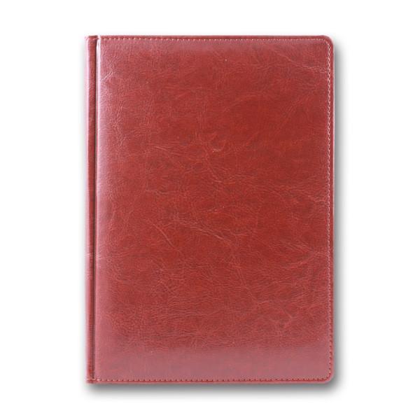 Ежедневник недатированный BRISK OFFICE SARIF А5(14,2х20,3) красно-коричневый с золотым торцом