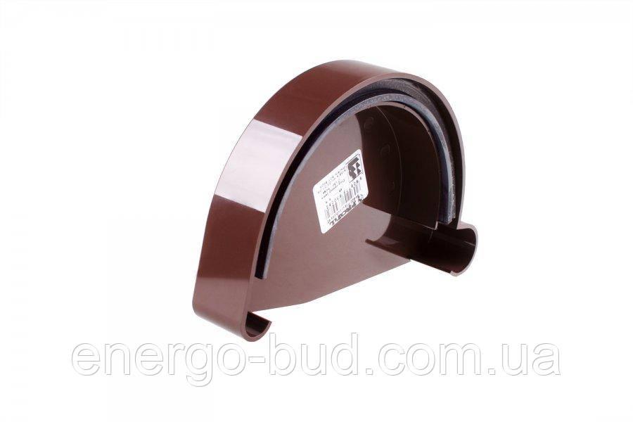 Заглушка ринви Profil ліва L 130 коричнева