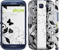 """Чехол на Samsung Galaxy S3 Duos I9300i Цветочный узор 3 """"1582c-50"""""""