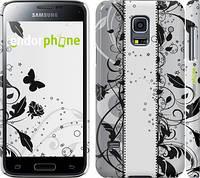 "Чехол на Samsung Galaxy S5 mini G800H Цветочный узор 3 ""1582c-44"""