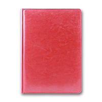 Ежедневник недатированный BRISK OFFICE SARIF А5(14,2х20,3) красный с фольгированным торцом