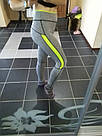 Лосины для фитнеса леггинсы для спорта серые салатовые спортивные №35 — (M), фото 2