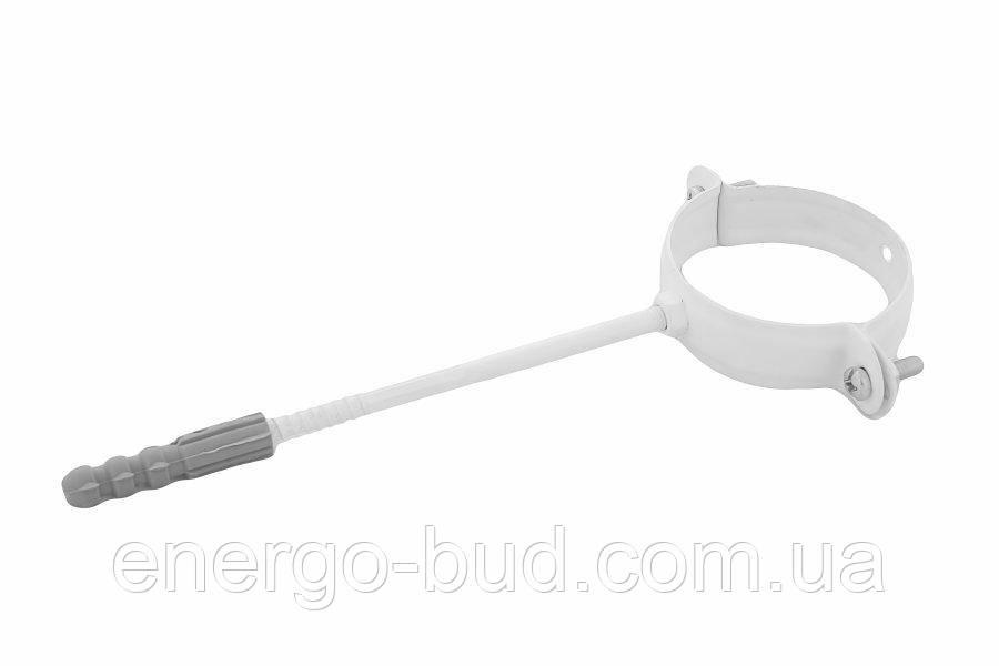 Держак труби Profil метал. L100 90 білий